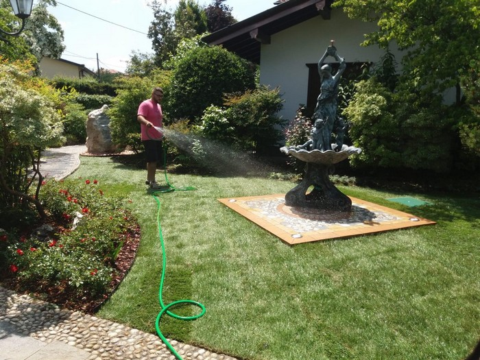 giardino e fontana